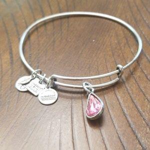 Alex and Ani bracelet- October Pink